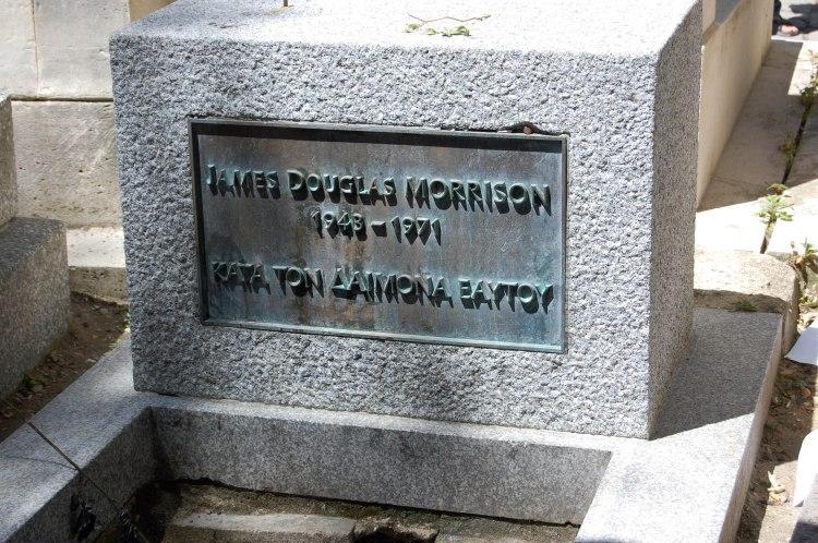 Doors frontman Jim Morrison's grave