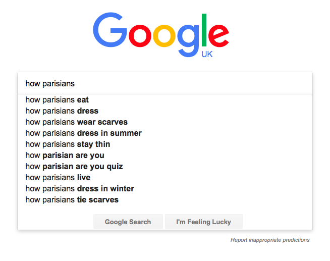how parisians google search