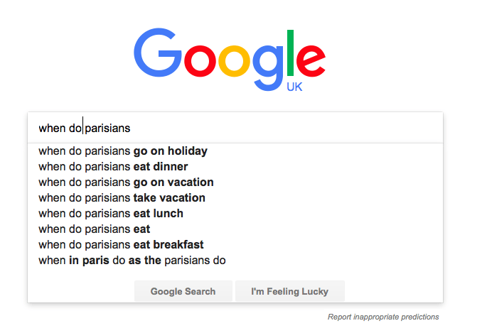 when do parisians googled